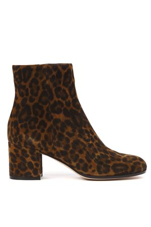 LEOPARD SUEDE PRINTED ANKLE BOOTS FW 2019 GIANVITO ROSSI | 52 | G7051060RICLEOPARD