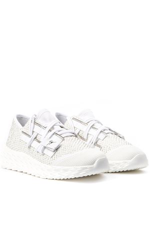 WHITE SNAKE LEATHER URCHIN SNEAKERS FW 2019 GIUSEPPE ZANOTTI | 55 | RM900831002