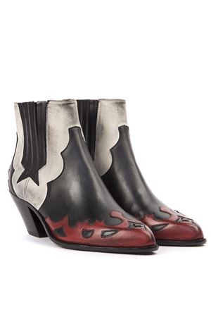 COWBOY BOOTS IN BLACK RED AND WHITE LEATHER FW 2019 GOLDEN GOOSE DELUXE BRAND | 52 | G35WS9381A1