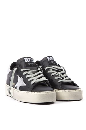 BLACK AND SILVER LEATHER HIGH STAR SNEAKERS FW 2019 GOLDEN GOOSE DELUXE BRAND | 55 | G35WS9451B9