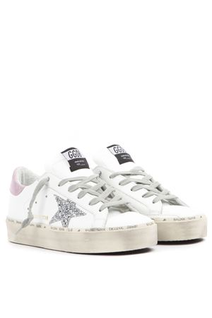 SNEAKERS SUPERSTAR BIANCHE E ROSA IN PELLE AI 2019 GOLDEN GOOSE DELUXE BRAND | 55 | G35WS9451G9