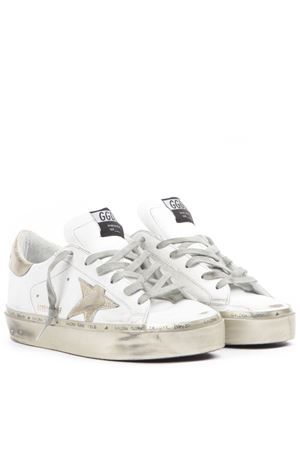 WHITE AND GOLD LEATHER SUPERSTAR SNEAKERS FW 2019 GOLDEN GOOSE DELUXE BRAND | 55 | G35WS9451H3