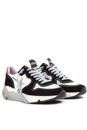 SUEDE AND MESH BLACK AND WHITE RUNNING SNEAKERS FW 2019 GOLDEN GOOSE DELUXE BRAND | 55 | G35WS9631D5