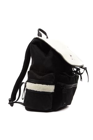 LEWIS HAMILTON BLACK VELVET BACKPACK WITH SHERPA PANELS FW 2019 HILFIGER COLLECTION | 183 | AM0AM053711BDS