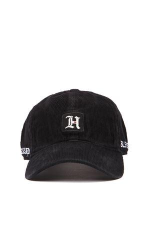 BLACK RIBBED VELVET BASEBALL LEWIS HAMILTON HAT FW 2019 HILFIGER COLLECTION | 17 | AM0AM053791BDS