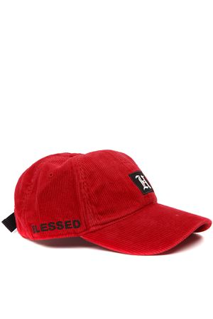 RED RIBBED VELVET BASEBALL LEWIS HAMILTON HAT FW 2019 HILFIGER COLLECTION | 17 | AM0AM053791XBE