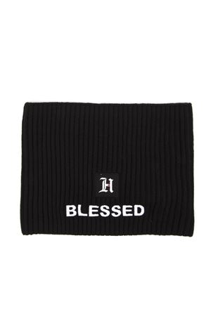 BLACK BLEND RIBBED WOOL HAT HAIR BAND FW 2019 HILFIGER COLLECTION | 17 | AM0AM054521BDS