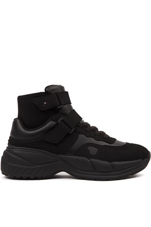 SNEAKERS CHUNKY IN ECOSUEDE NERO AI 2019 HILFIGER COLLECTION | 55 | FM0FM025211BAS