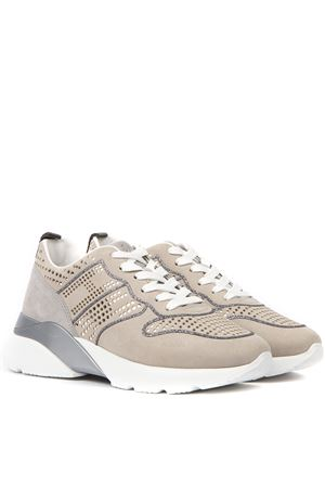 SNEAKER ACTIVE ONE BEIGE E GRIGIE IN PELLE AI 2019 HOGAN | 55 | HXW3850CE80CR0B606