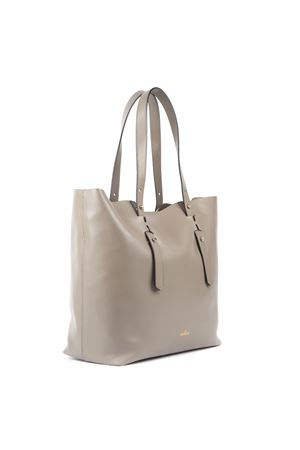 TAUPE COLOR LEATHER SHOPPING BAG FW 2019 HOGAN | 2 | KBW018A0400J60C407