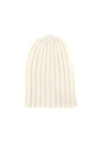 MILK COLOR WHITE RIBBED HAT FW 2019 LANEUS | 17 | ACU306UNI11