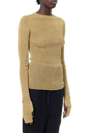 GOLD RIBBED KNIT GLITTER SWEATER FW 2019 LANVIN | 16 | RW-TO608MMA03-H19M1