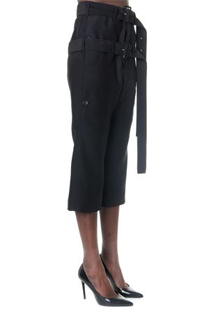 BLACK AND WOOL CROP PANTS WITH DOUBLE BELT FW 2019 LANVIN | 8 | RW-TR501U4247-H1910