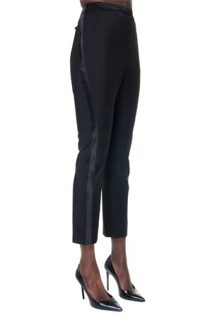 BLACK CROPPED SLIM FIT TAILORED TROUSERS FW 2019 LANVIN | 8 | RW-TR517S4197-H1910