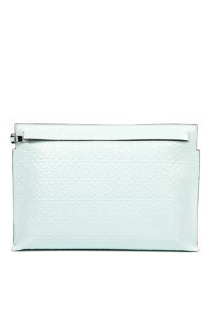 MINT LEATHER T CLUTCH WITH MONOGRAM  LOEWE | 2 | 10910GW0514329