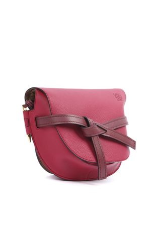 GATE SHOULDER BAG IN RASPBERRY AND BORDEAUX LEATHER FW 2019 LOEWE | 2 | 33312T2017604
