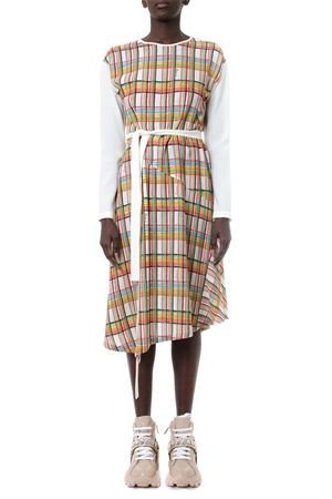 MULTICOLOR CHECKED WOOL DRESS FW 2019 LOEWE | 32 | D229671ORO1BIANCO/MULRICOLOR