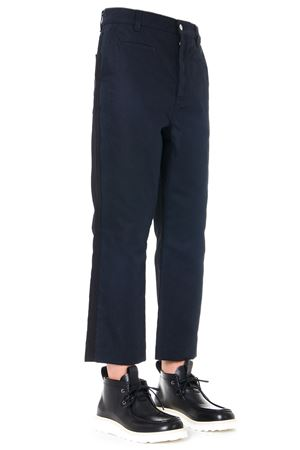 NAVY BLUE CROPPED COTTON PANTS FW 2019 LOEWE | 8 | H2292460IB1NAVY