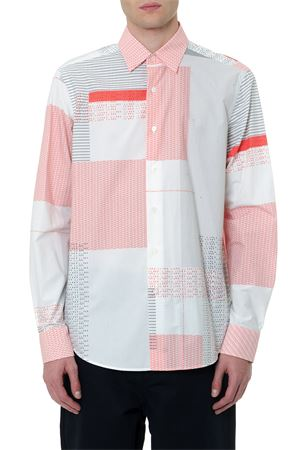 MULTICOLOR GEOMETRIC DESIGN COTTON SHIRT FW 2019 LOEWE | 9 | H2299551CG1WHITE/RED/BLACK