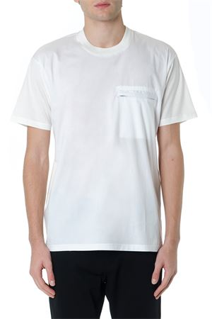 WHITE COTTON T SHIRT WITH ZIPPED POCKET FW 2019 LOW BRAND | 15 | L1TFW192049671A001