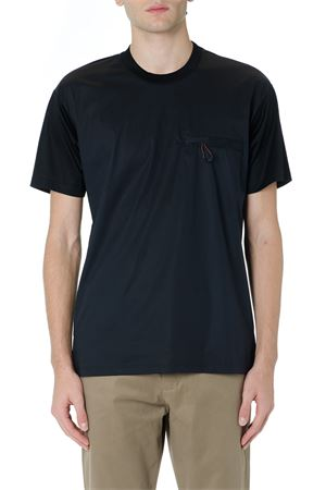 BLACK COTTON T SHIRT WITH ZIPPED POCKET FW 2019 LOW BRAND | 15 | L1TFW192049671D001
