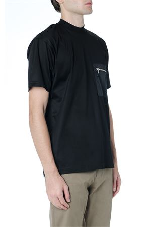 BLACK COTTON T SHIRT WITH ZIPPED POCKET FW 2019 LOW BRAND | 15 | L1TFW192049771D001
