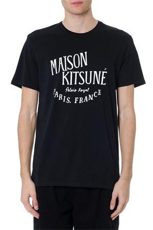 BLACK COTTON FRONTAL PRINT T-SHIRT FW 2019 MAISON KITSUNÉ | 15 | AM00100KJ0008BLACK
