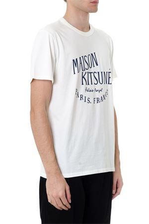 WHITE COTTON FRONTAL PRINT T-SHIRT FW 2019 MAISON KITSUNÉ | 15 | AM00100KJ0008LATTE
