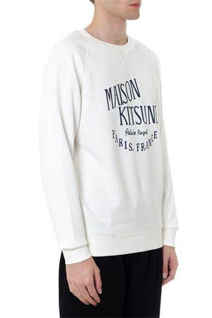 WHITE COTTON PRINT SWEATSHIRT FW 2019 MAISON KITSUNÉ | 19 | AM00300KM0001LATTE