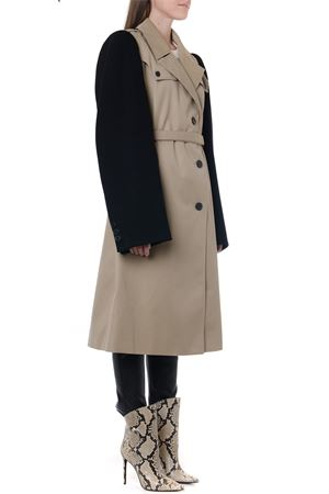 COLOR BLOCK BELTED TRENCH COAT