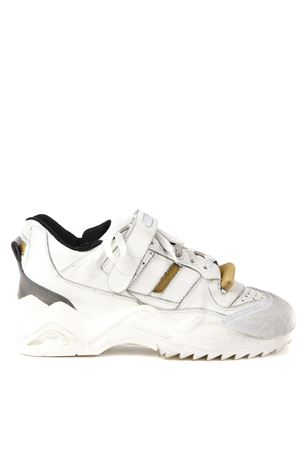 USED EFFECT WHITE LEATHER SNEAKERS FW 2019 MAISON MARGIELA | 55 | S37WS0490P2082H1609