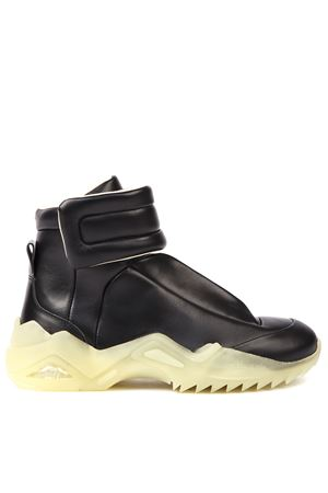FUTURE BLACK LEATHER HIGH-TOP SNEAKERS fw 2019 MAISON MARGIELA | 55 | S37WS0492P2589T8013