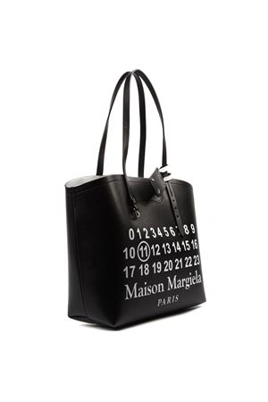 BLACK LEATHER PRINTED TOTE BAG FW 2019 MAISON MARGIELA | 2 | S56WC0063PS064T8013