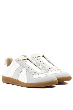 REPLICA LEATHER & SUEDE SNEAKERS FW 2019 MAISON MARGIELA | 55 | S58WS0109P1895T1016