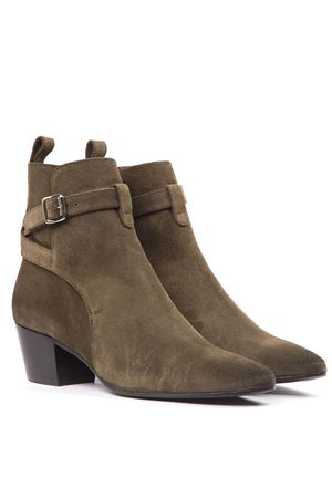 MILITARY GREEN SUEDE ANKLE BOOTS FW 2019 MARC ELLIS | 52 | MA73VELURMILITARY