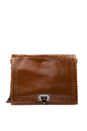 BROWN SCALED LEATHER BAG FW 2019 MARC ELLIS | 2 | MEB-122LUNICUOIO
