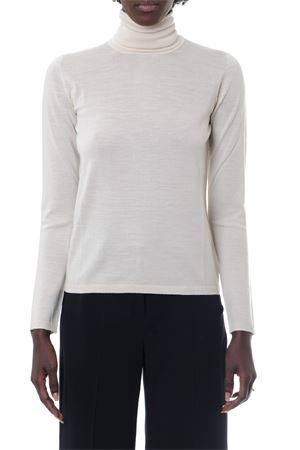 WHITE PURE WOOL HIGH-COLLAR JUMPER FW 2019 MAX MARA | 16 | ANTA098005