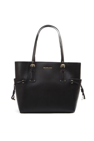 BLACK VOYAGER CROSS LEATHER TOTE LEATHER FW 2019 MICHAEL MICHAEL KORS | 2 | 30H7GV6T9LUNI001
