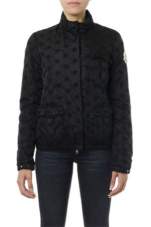 SIMONE ROCHA BLACK DOWN JACKET WITH FLORAL MOTIF FW 2019 MONCLER GENIUS | 27 | 4531200C0334HILLARY999