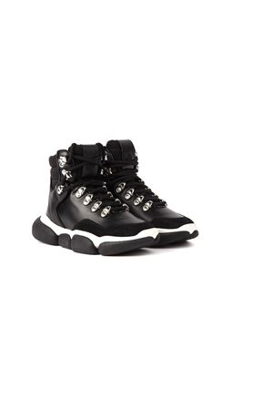 BLACK AND WHITE ANKLE BOOTS SNEAKERS FW 2019 MONCLER | 55 | 205680001AJ0BRIANNA999