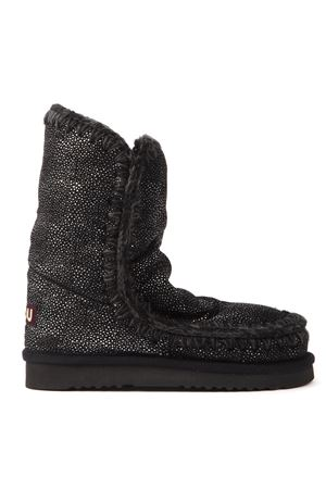 BUBBLE ESKIMO 24 BLACK LEATHER ANKLE BOOTS FW 2019 MOU | 52 | MU.FW101000NESKIMO 24 BBBLE FABRICBLPLA