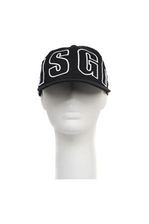 BLACK COTTON CANVAS HAT WITH MSGM LOGO FW 2019 MSGM | 17 | 2740ML0419556899