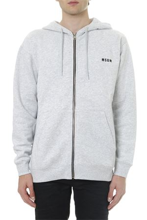 GREY COTTON SWEATSHIRT WITH EMBROIDERED LOGO FW 2019 MSGM | 19 | 2740MM8719579894