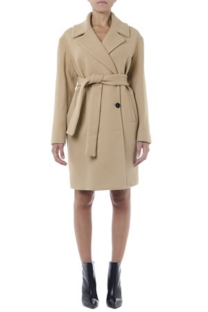 DOUBLE BREASTED BEIGE WOOL COAT FW 2019 MSGM | 31 | 2741MDC3219575023