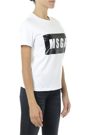 BLACK AND WHITE COTTON T SHIRT WITH LOGO PRINT FW 2019