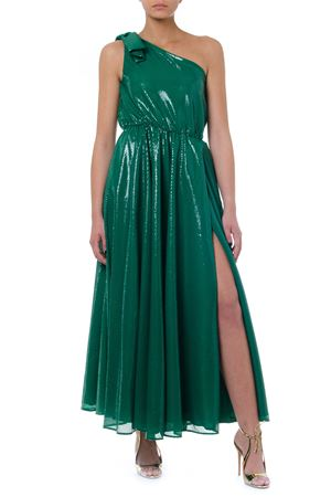 GREEN ONE SHOULDER LONG DRESS FW 2019 MSGM | 21 | 2743MDA2419570236
