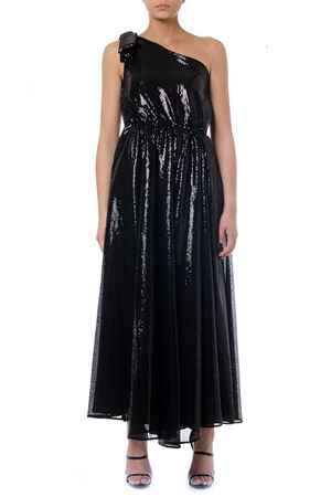 BLACK ONE SHOULDER LONG DRESS FW 2019 MSGM | 21 | 2743MDA2419570299