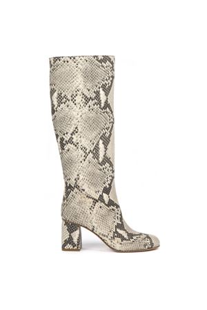 33e115b90eb9 SNAKESKIN-EFFECT ROCK COLOR LEATHER BOOTS FW 2019 RED VALENTINO | 52 |  SQ2S0C58NLMUNI844 ...