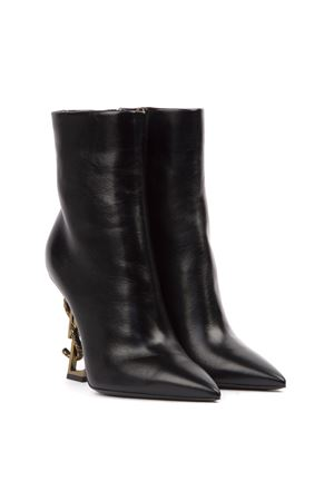 OPYUM LEATHER ANKLE BOOTS WITH BRONZE SNAKE HEEL FW 2019 SAINT LAURENT | 52 | 5789221FZDD1000