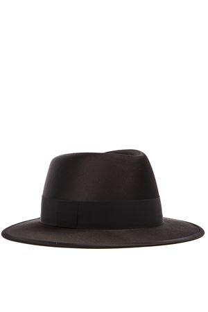 BLACK WOOL-SILK BLEND FEDORA HAT FW 2019 SAINT LAURENT | 17 | 5937423YD201000